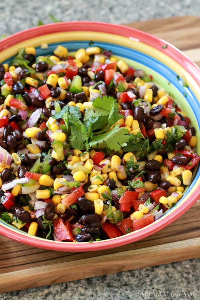 Black Bean Corn Salsa  Corn & Black Bean Salsa That s What Che Said