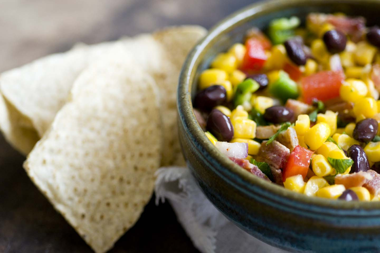 Black Bean Corn Salsa  Corn and black bean salsa recipe