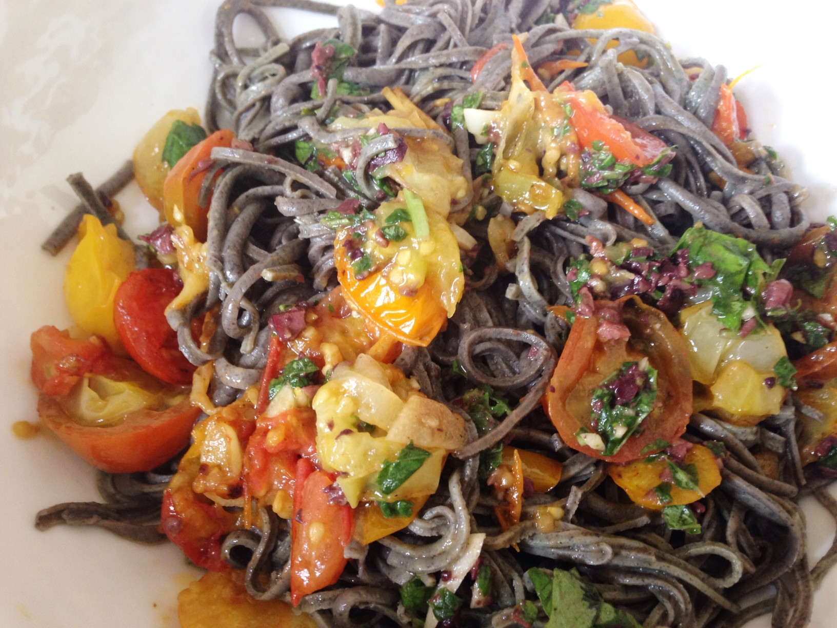 Black Bean Noodles Recipe  August 2014