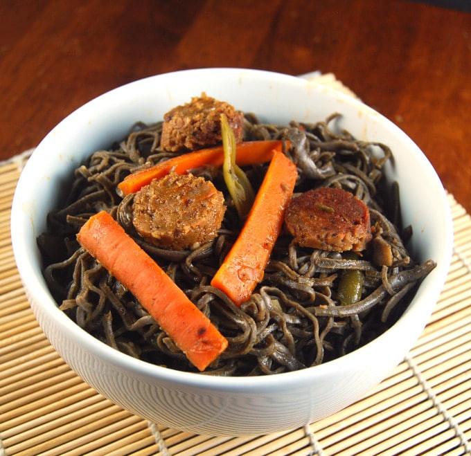 Black Bean Noodles Recipe  Stir Fried Black Bean Noodles Holy Cow Vegan Recipes