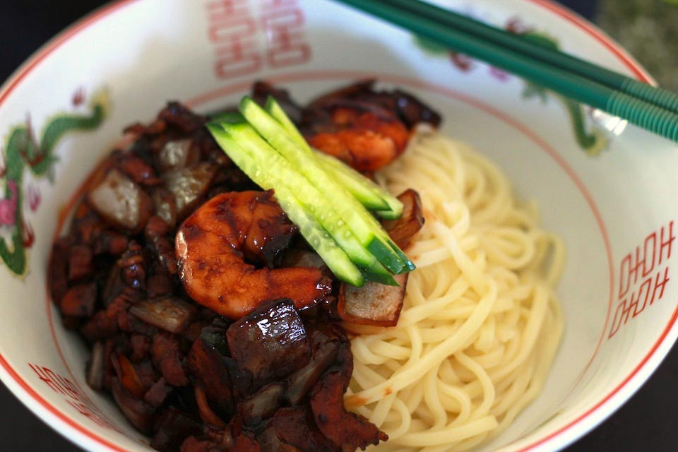 Black Bean Noodles Recipe  Korean Black Bean Noodles Recipe 짜장면 자장면