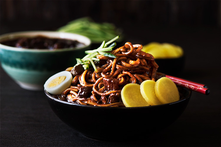 Black Bean Noodles Recipe  Korean Black Bean Noodles