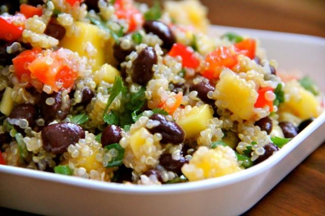 Black Bean Quinoa Salad  Mango & Black Bean Quinoa Salad