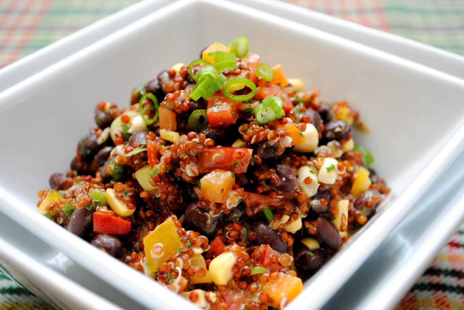 Black Bean Quinoa Salad  The Church Cook Red Quinoa and Black Bean Salad