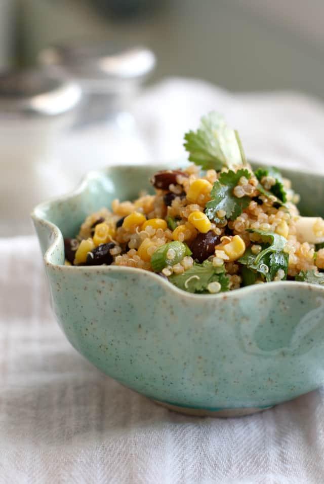 Black Bean Quinoa Salad  Southwestern Quinoa Black Bean Salad The Pretty Bee