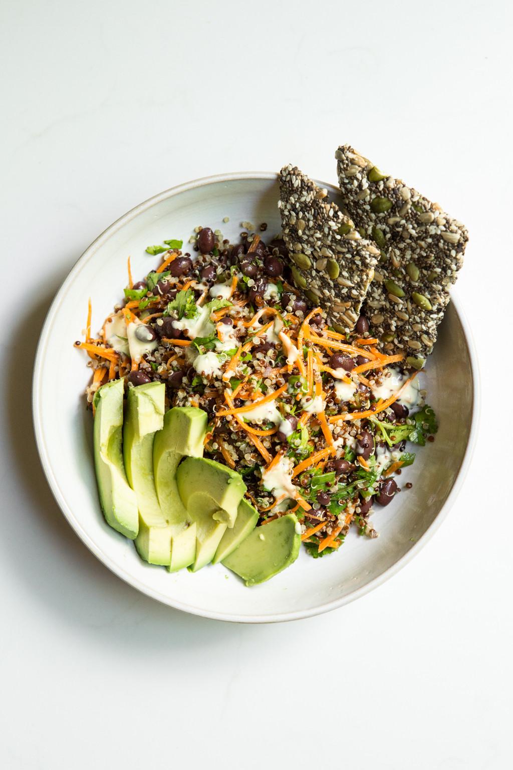 Black Bean Quinoa Salad  Cumin Lime Black Bean Quinoa Salad quick easy — Oh