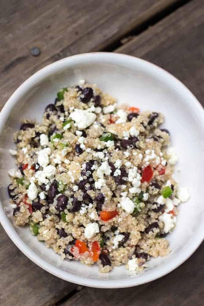 Black Bean Quinoa Salad  Healthy Black Bean and Feta Quinoa Salad Dash of Herbs