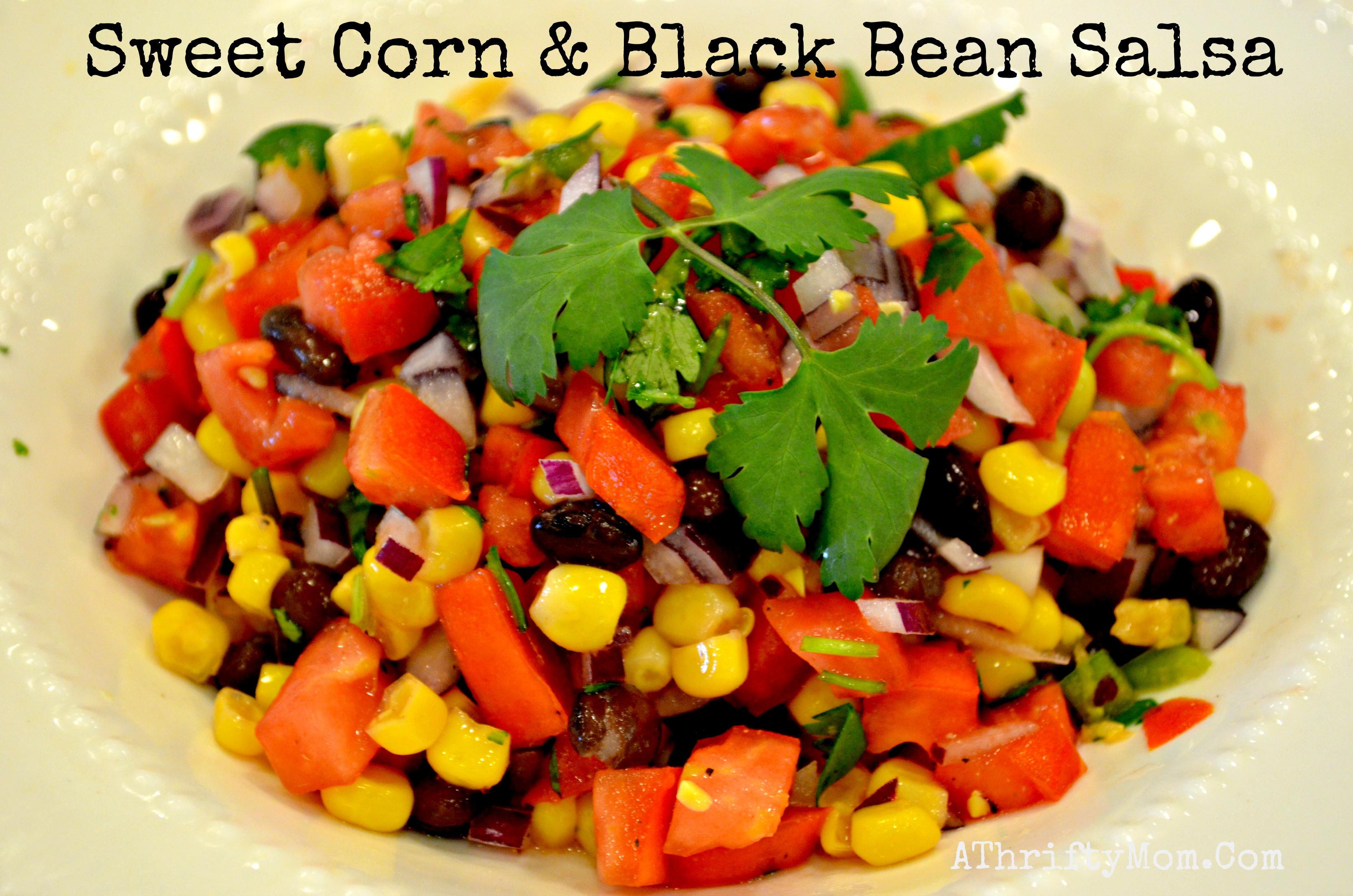 Black Bean Salsa Recipe  sweet corn and black bean salsa recipe A Thrifty Mom