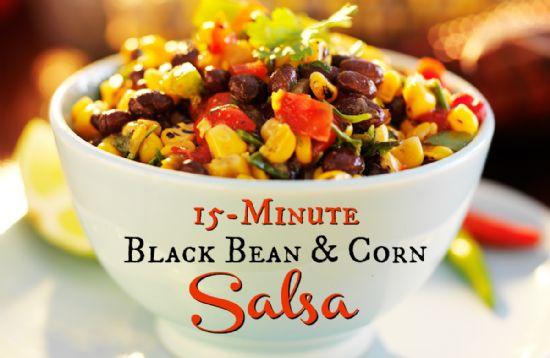 Black Bean Salsa Recipe  15 Minute Black Bean and Corn Salsa Recipe