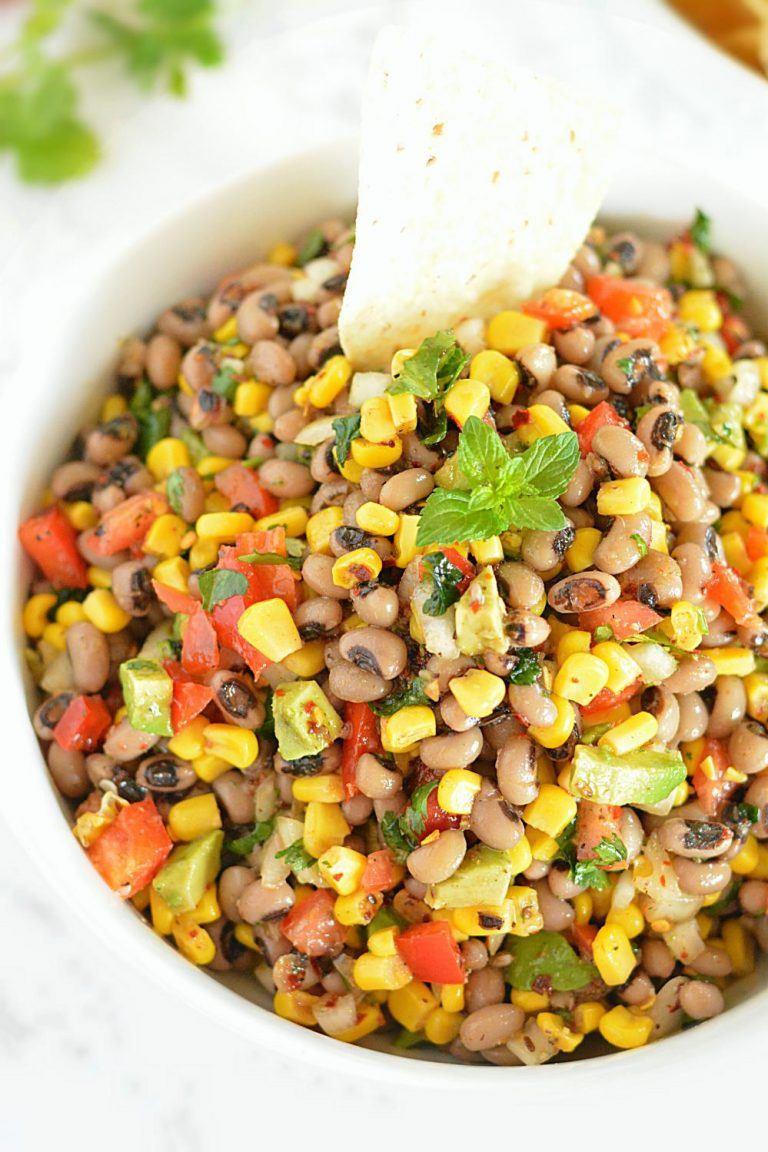 Black Bean Salsa Recipe  Zesty Black Eyed Pea and Corn Salsa Recipe how to make