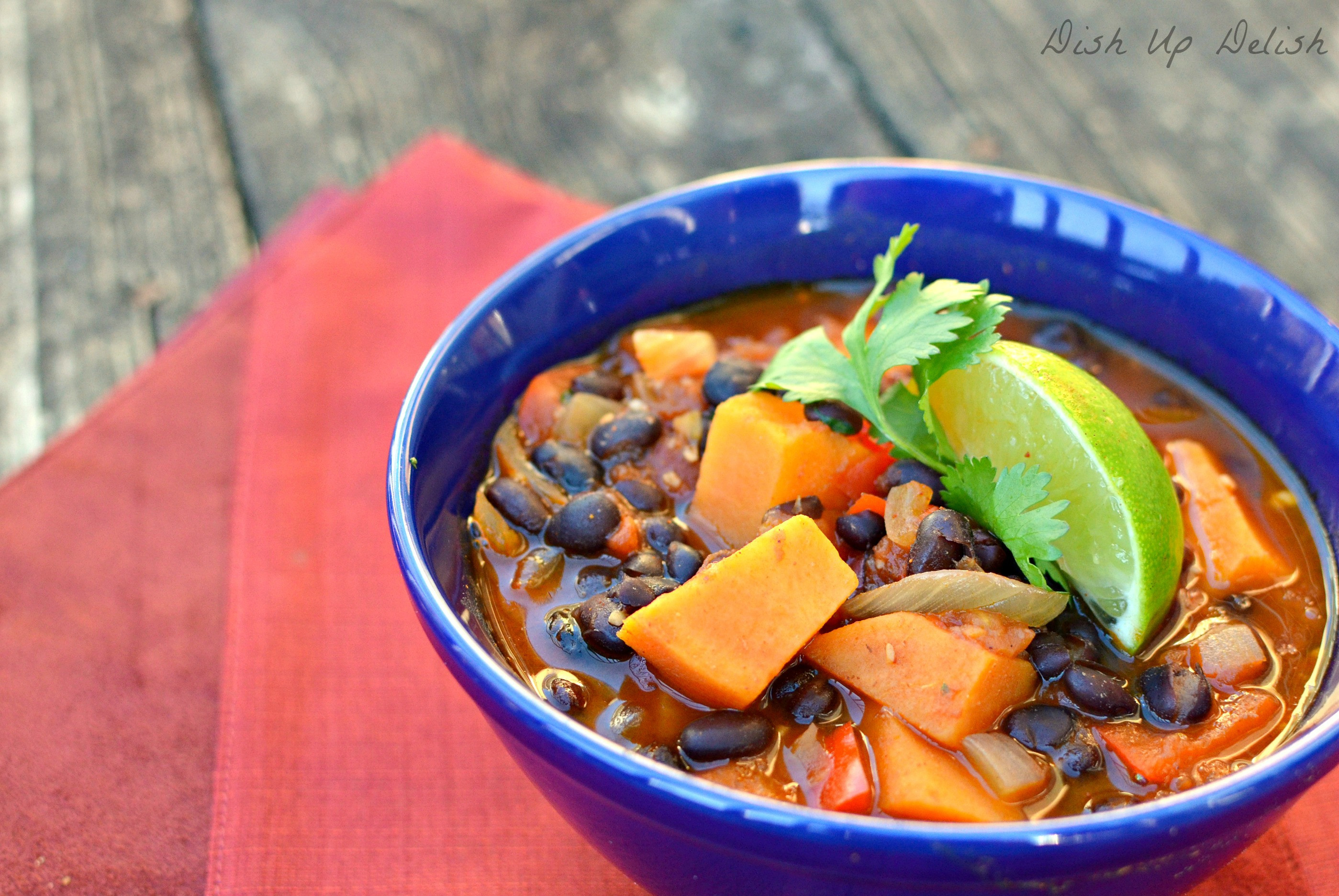 Black Bean Sweet Potato Chili  Smokey Black Bean & Sweet Potato Chili Dish Up Delish