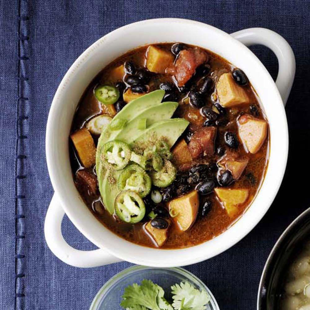 Black Bean Sweet Potato Chili  Sweet Potato and Black Bean Chili