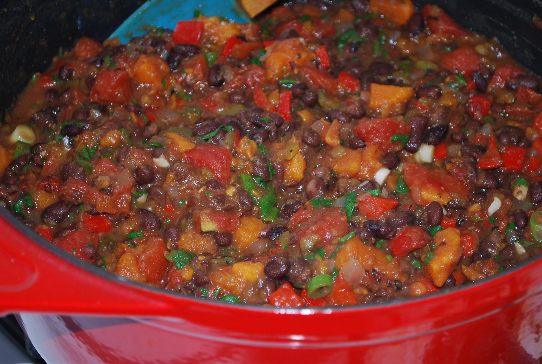 Black Bean Sweet Potato Chili  Quick Black Bean & Sweet Potato Chili