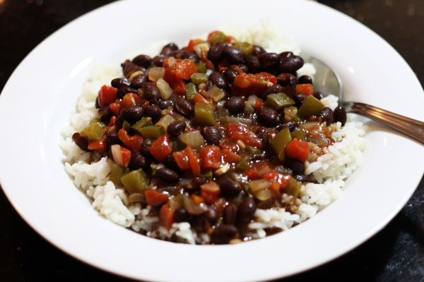 Black Beans And Rice  black beans & rice Table for Two by Julie Wampler