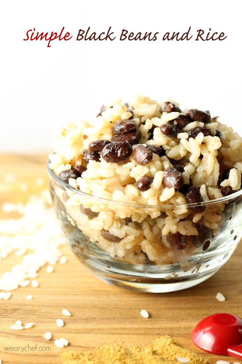 Black Beans And Rice  Easy Black Beans and Rice Recipe The Weary Chef