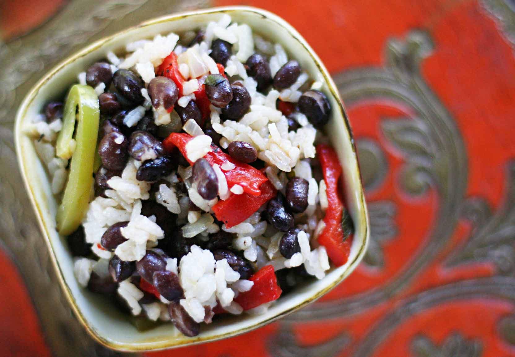 Black Beans And Rice  Easy Black Beans and Rice Recipe