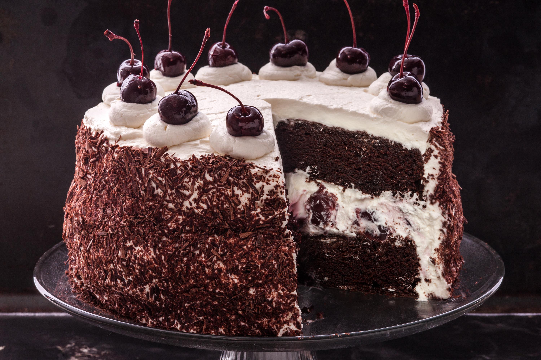 Black Cake Recipe  black forest cake 3000