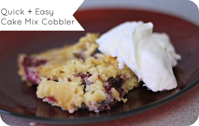Blackberry Cobbler With Cake Mix  Berry Cobbler With Cake Mix Recipes