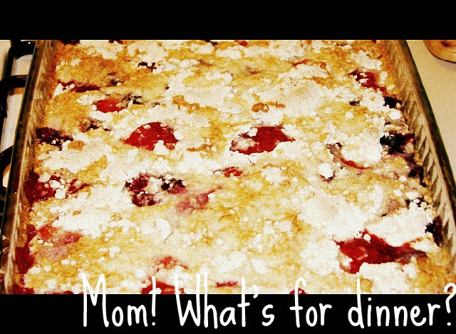 Blackberry Cobbler With Cake Mix  Mom What s for dinner Berry Cobbler