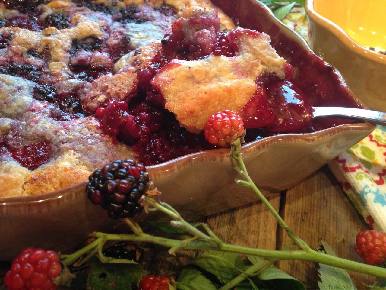 Blackberry Cobbler With Pie Crust  Soft Crust Blackberry Cobbler My Country Table