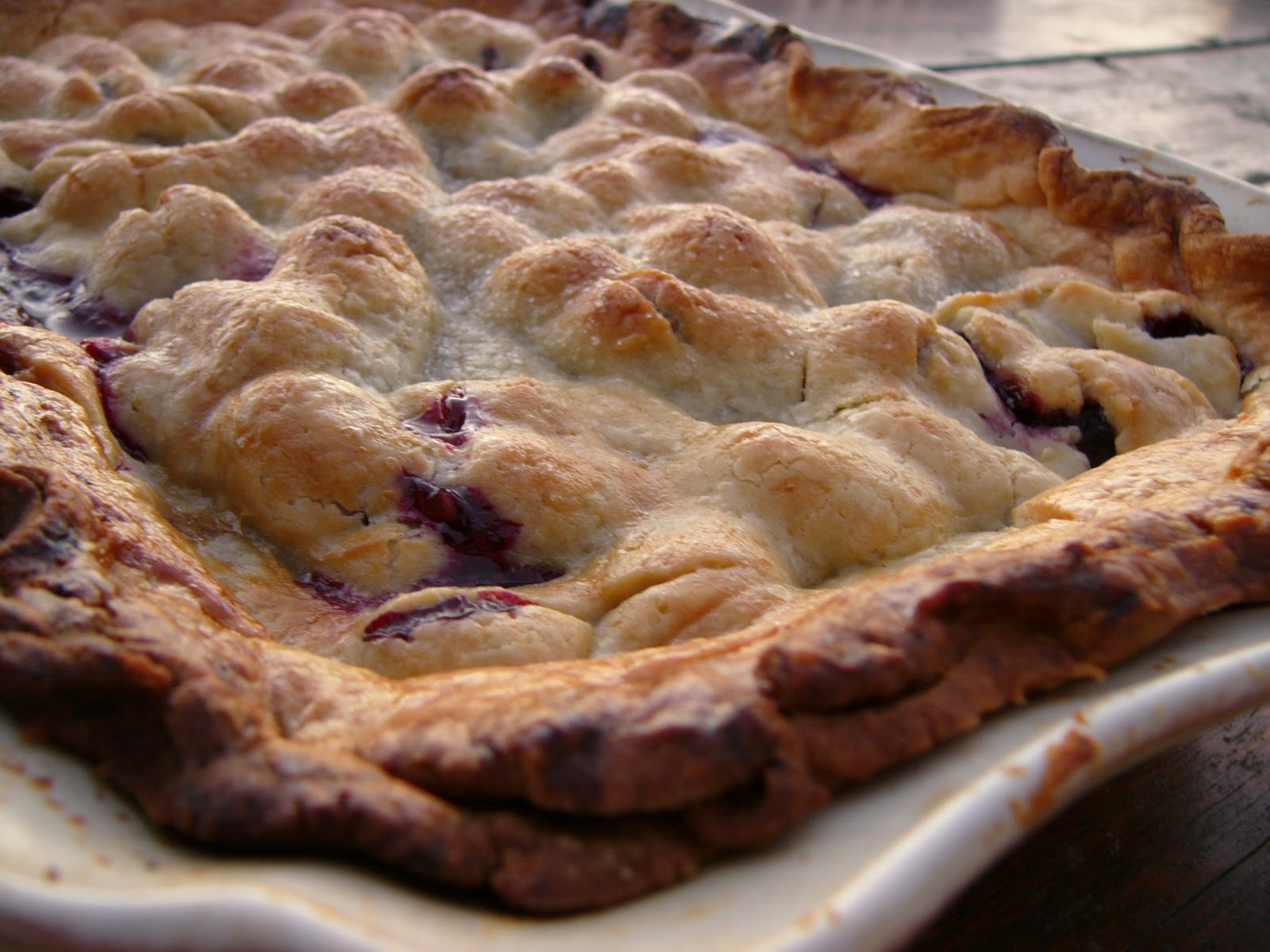 Blackberry Cobbler With Pie Crust  Audrey s three crust blackberry cobbler