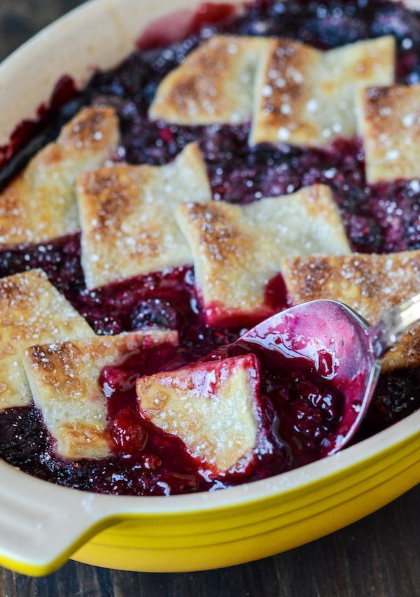 Blackberry Cobbler With Pie Crust  Berry cobbler Cobbler and Berries on Pinterest