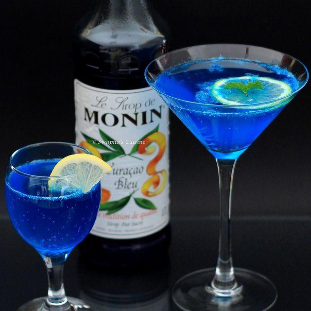 Blue Curacao Rum Drinks  Blue Lagoon cocktail curacao lemon juice sugar