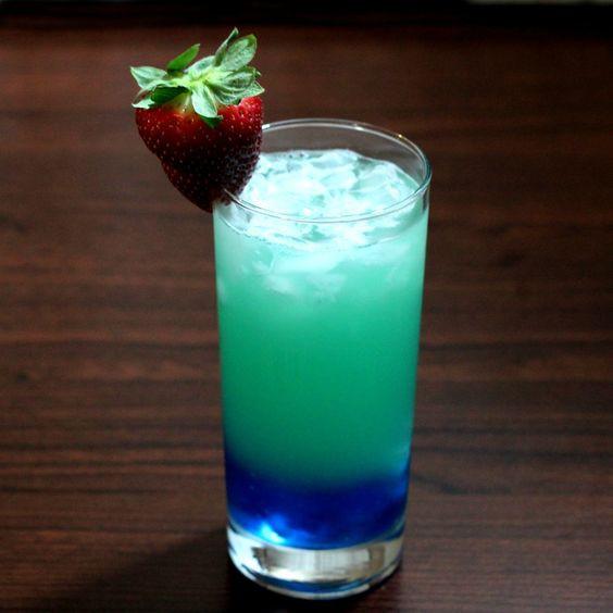 Blue Curacao Rum Drinks  Urban Violence cocktail