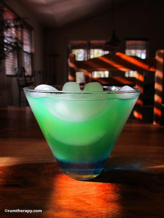 Blue Curacao Rum Drinks  Tropical Leprechaun 2 oz Coconut Rum 5 oz Blue Curacao