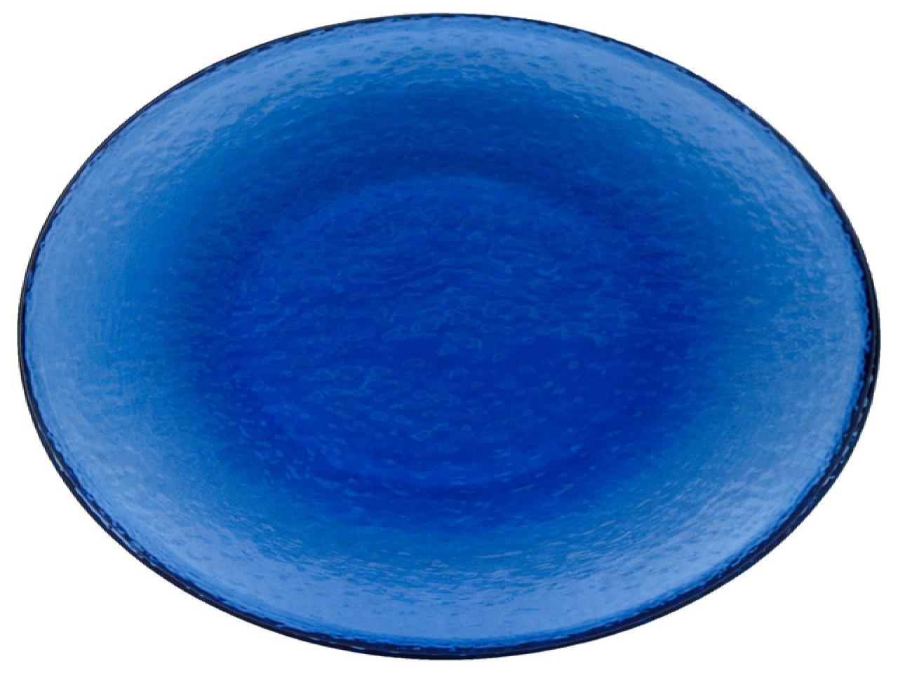 Blue Dinner Plates  Contemporary decorative glass plates cobalt blue glass
