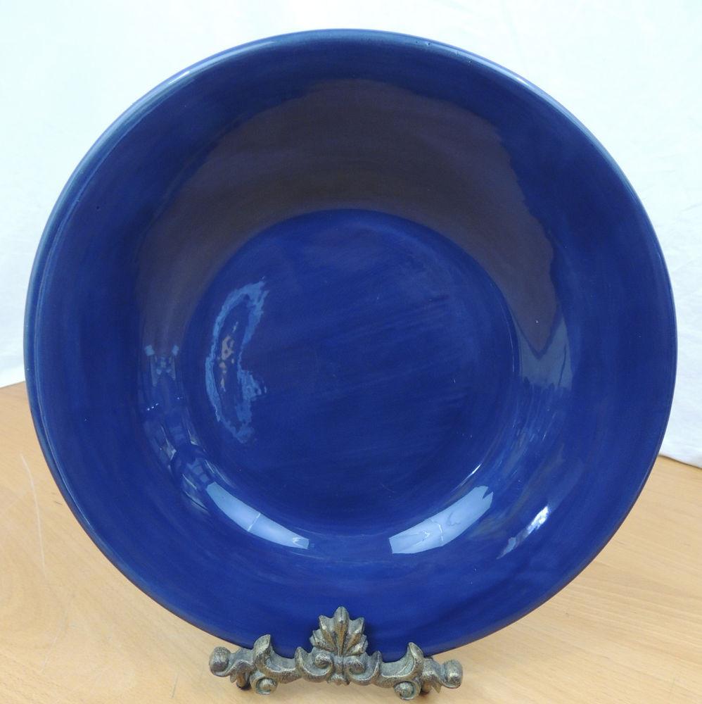 Blue Dinner Plates  Pottery Barn Sausalito Cobalt Blue Smooth Dinner Plate