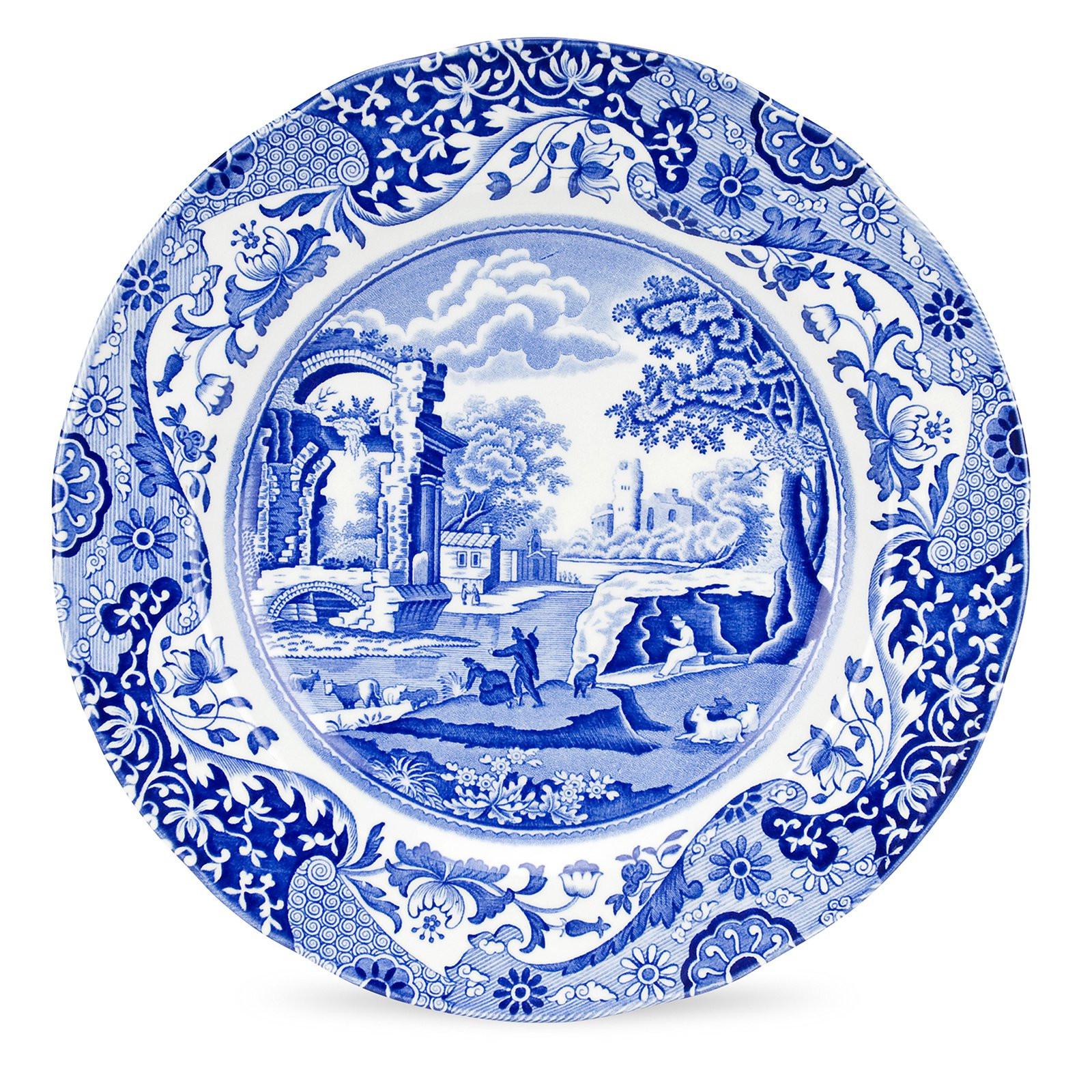 Blue Dinner Plates  Spode Blue Italian Dinner Plate Set of 4 Dinnerware at