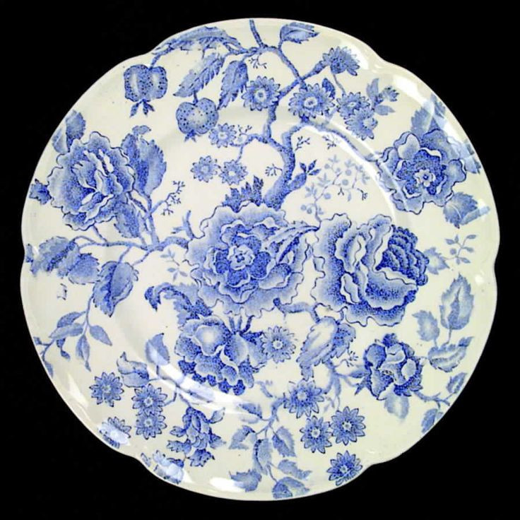 Blue Dinner Plates  Johnson Brothers ENGLISH CHIPPENDALE BLUE Dinner Plate