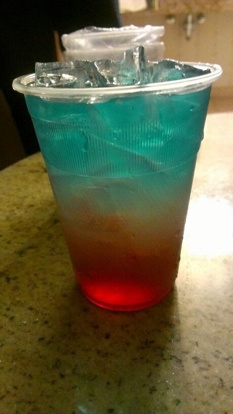 Blue Vodka Drinks  Bomb pop cocktail 2 3 Cup of lemonade over a full cup