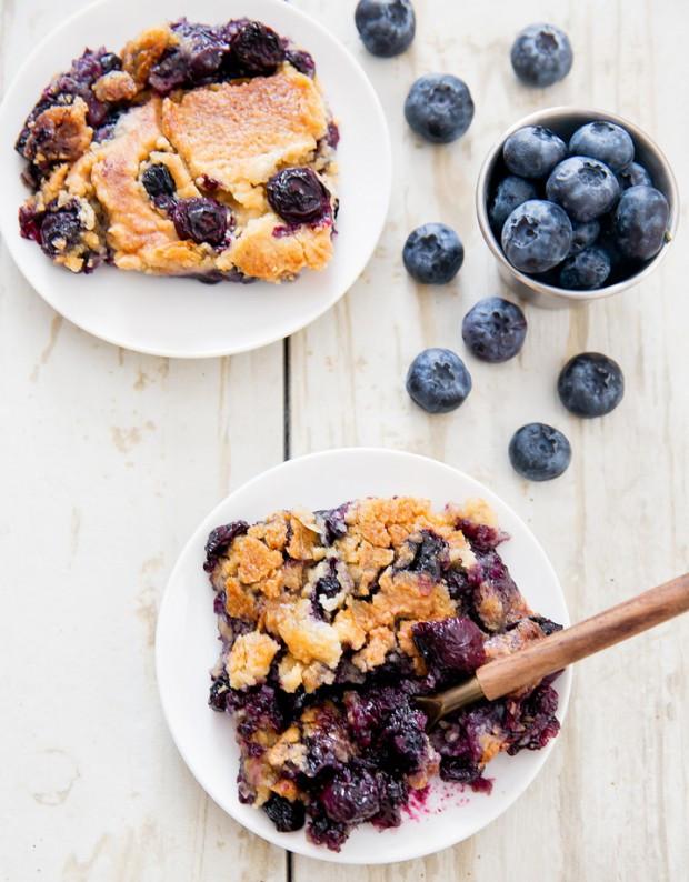 Blueberry Cobbler With Cake Mix  Blueberry Cobbler Dump Cake Kirbie s Cravings