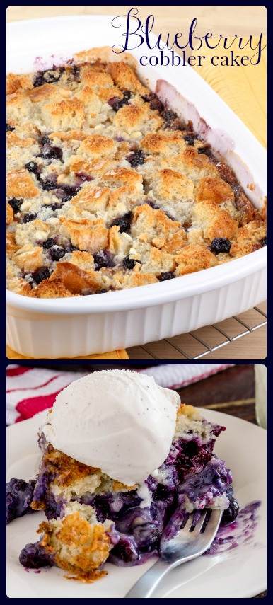 Blueberry Cobbler With Cake Mix  Fresh Blueberry Cobbler Cake Bakerette