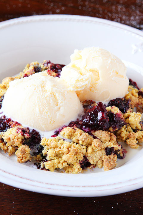Blueberry Cobbler With Cake Mix  Brown Butter Blueberry Cobbler