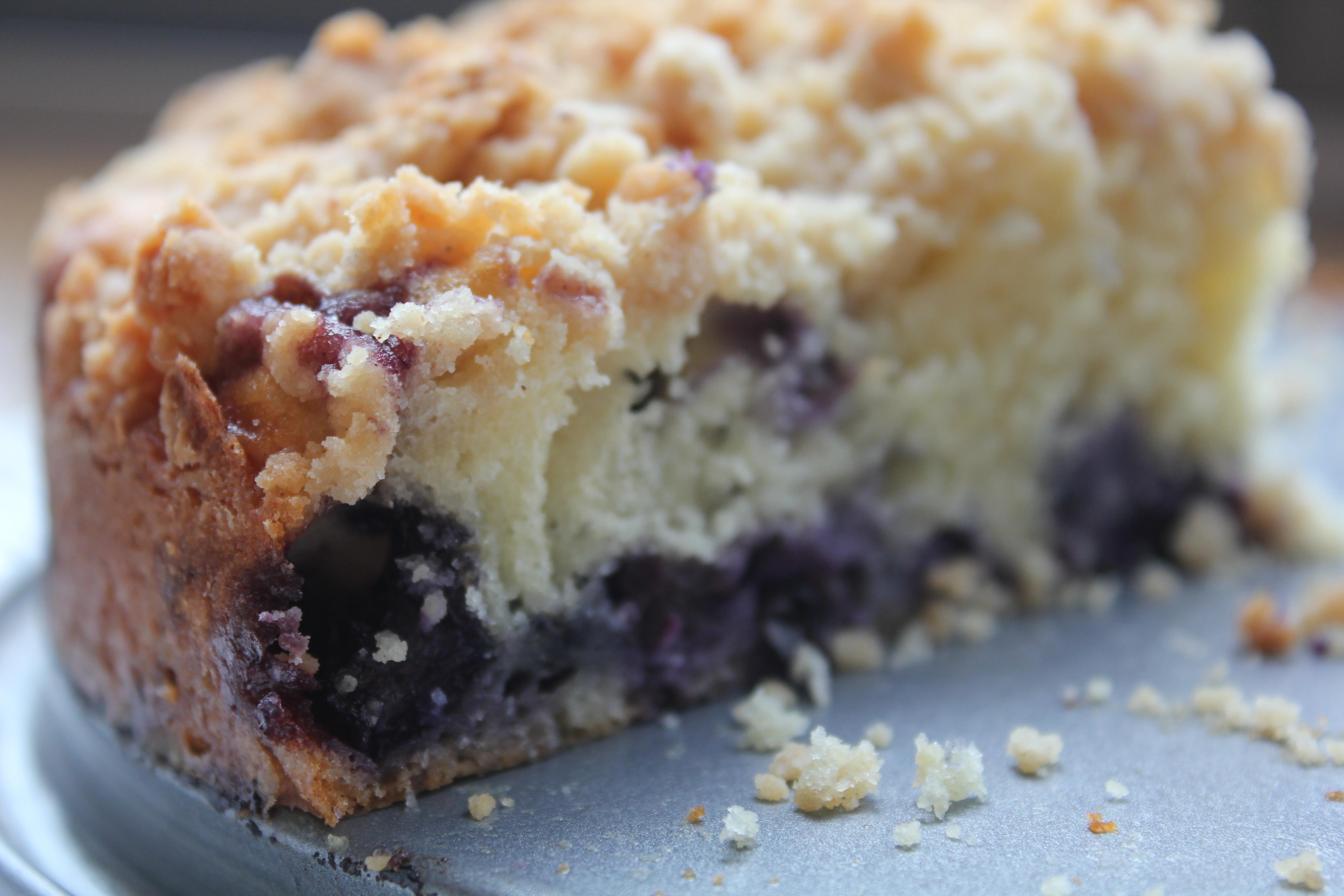 Blueberry Coffee Cake  blueberry coffee cake sour cream