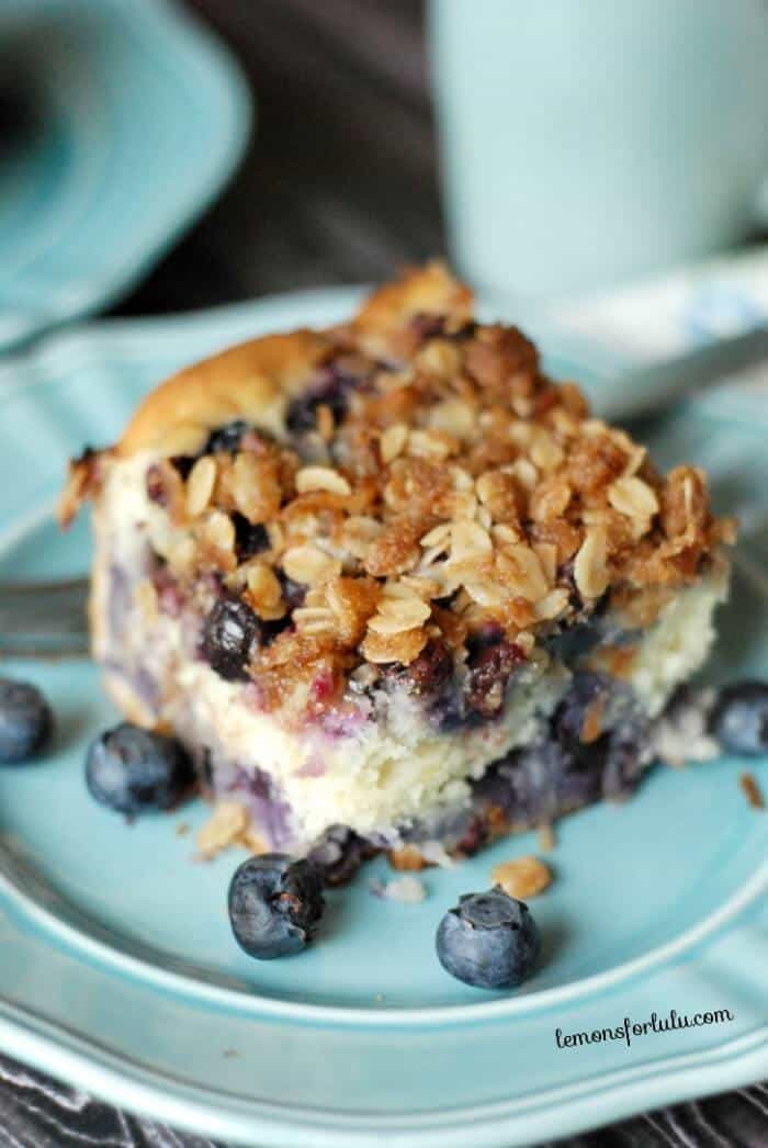 Blueberry Coffee Cake  Coffee Cake with blueberries and a coconut streusel