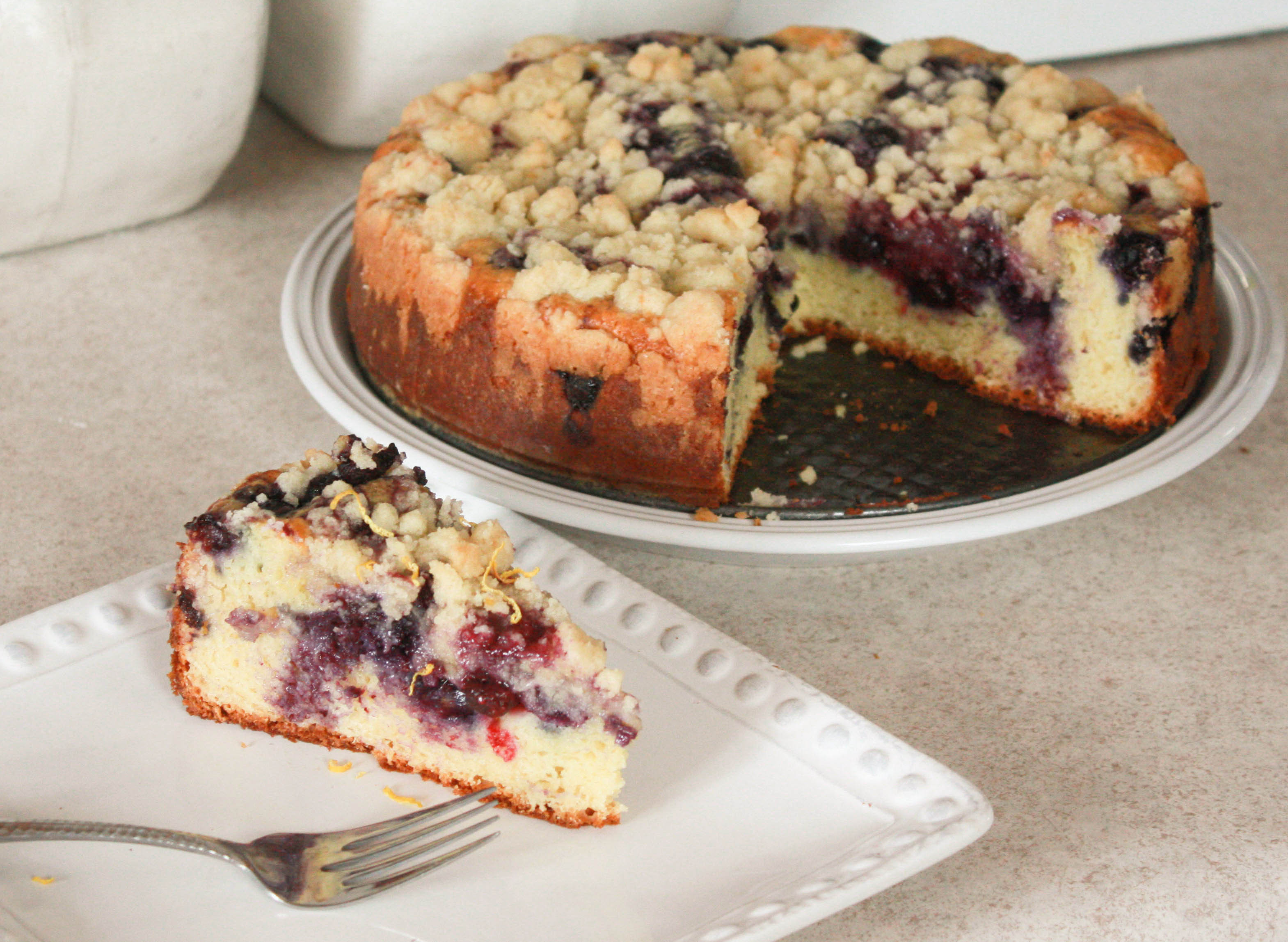 Blueberry Coffee Cake  Blueberry Sour Cream Coffee Cake Annie s Cooking Lab