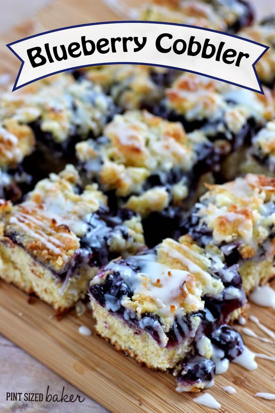 Blueberry Desserts Easy  Easy Blueberry Cobbler Pint Sized Baker