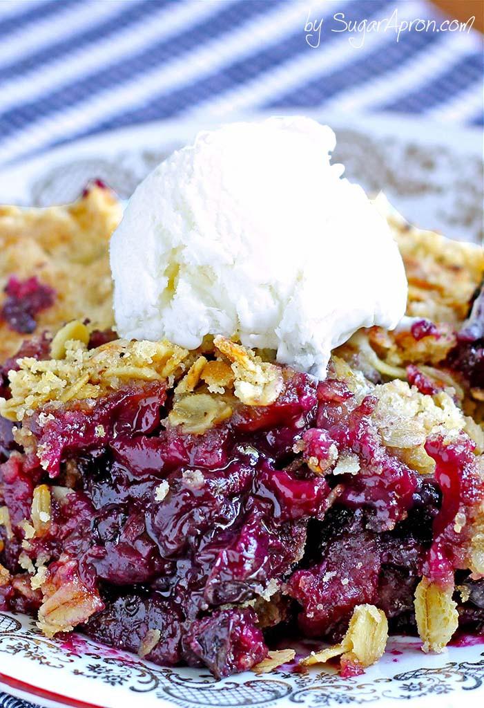 Blueberry Desserts Easy  Easy Blueberry Crisp Sugar Apron