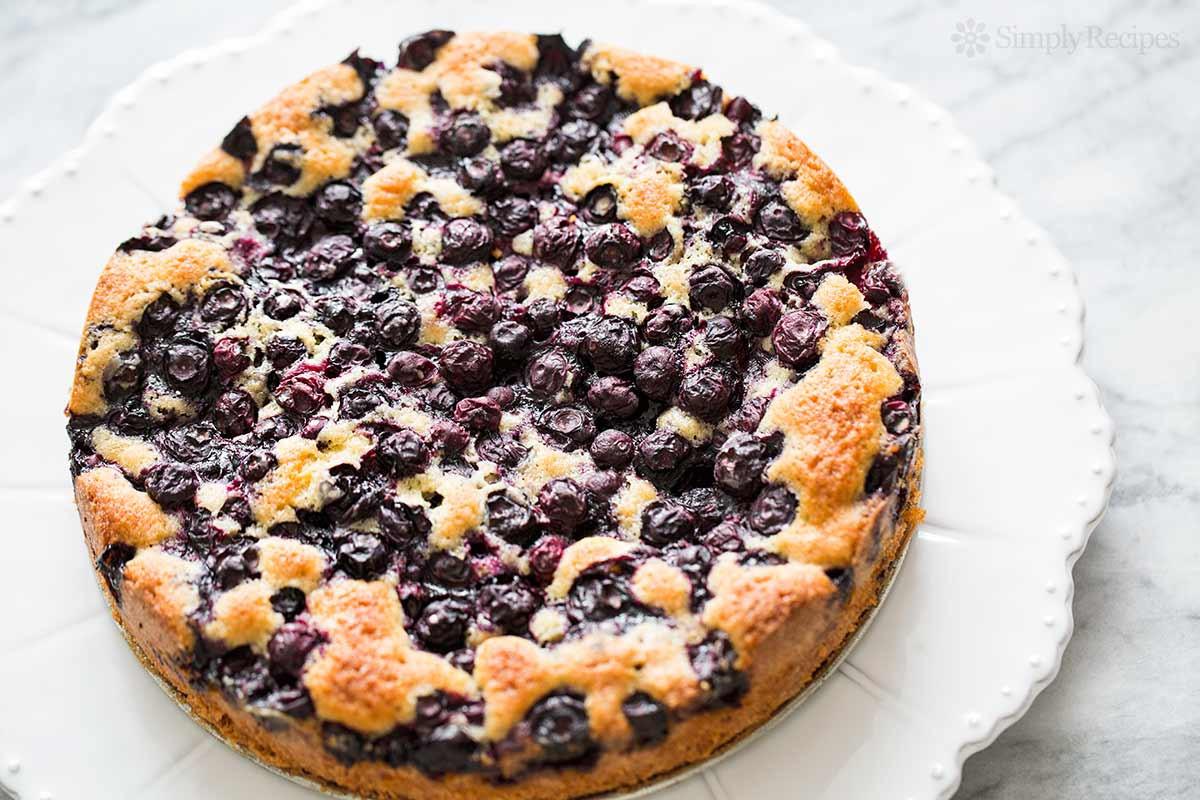 Blueberry Desserts Easy  Blueberry Cake Recipe