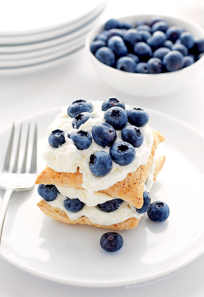 Blueberry Desserts Easy  Easy Blueberry Lemon Napoleon Dessert Recipe