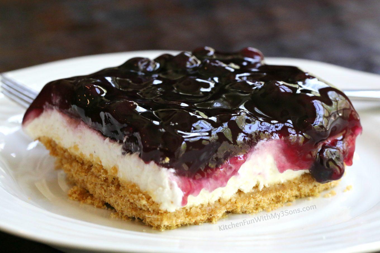 Blueberry Desserts Easy  Lemon Blueberry Cheesecake Dessert Kitchen Fun With My 3