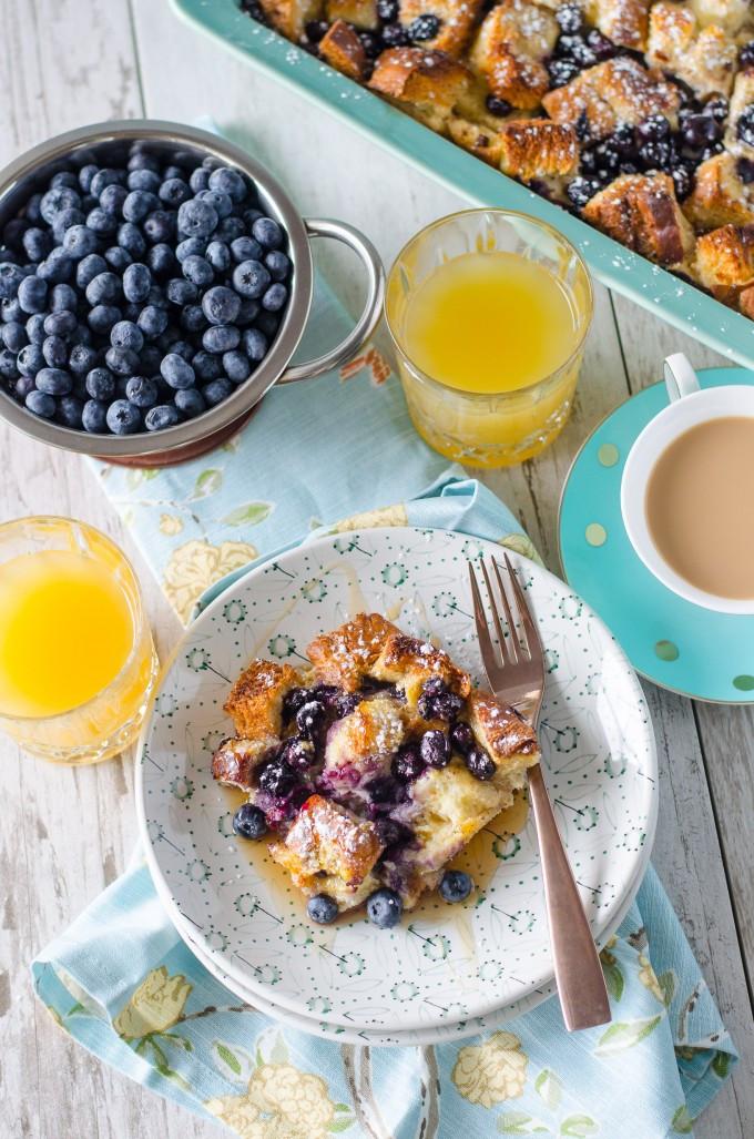 Blueberry French Toast Casserole  Overnight Blueberry French Toast Casserole Go Go Go Gourmet