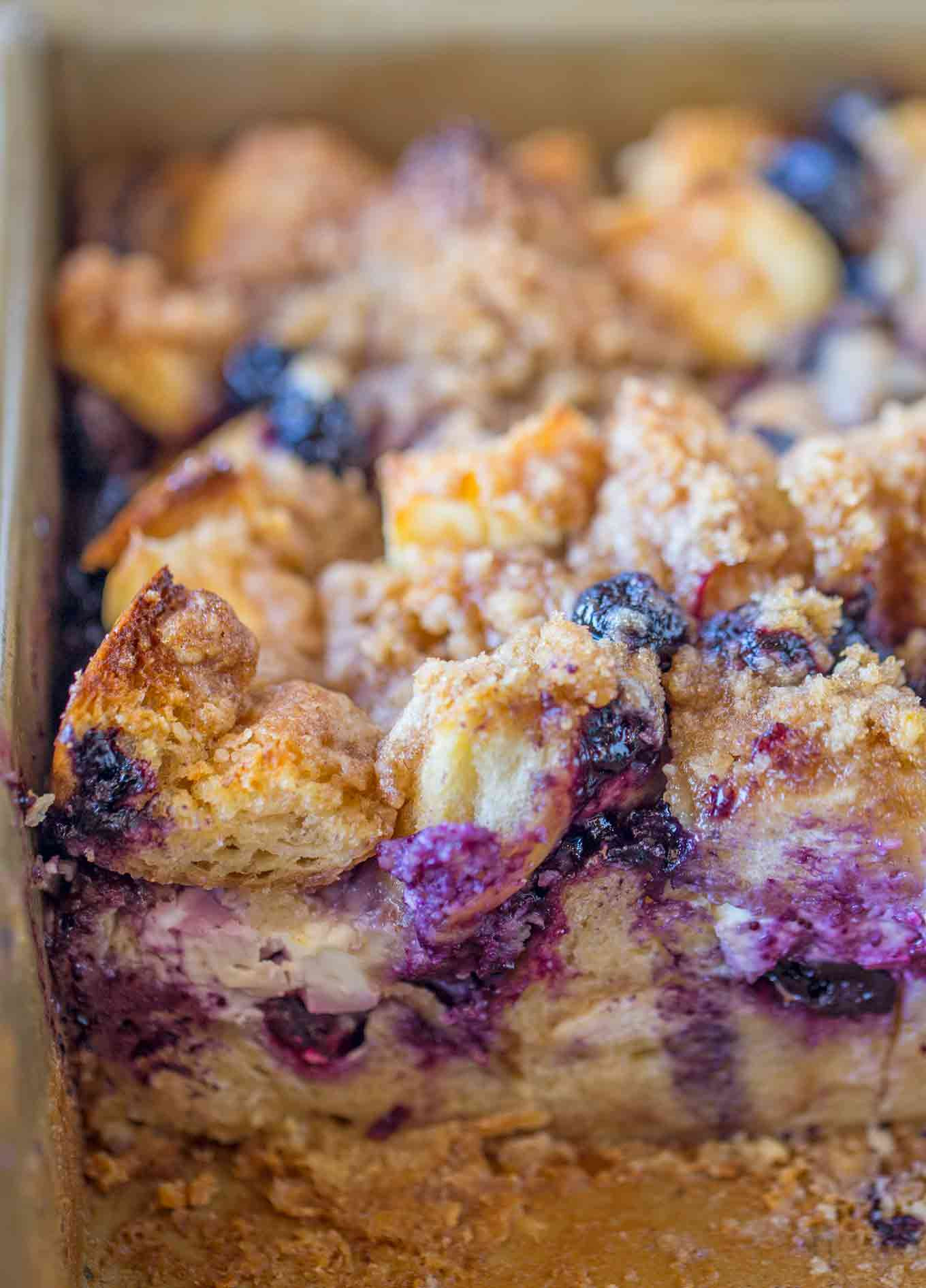Blueberry French Toast Casserole  Blueberry Cream Cheese French Toast Bake Dinner then