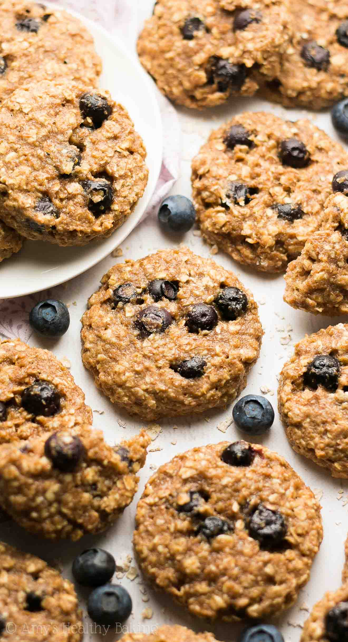 Blueberry Oatmeal Cookies  dried blueberry oatmeal cookies
