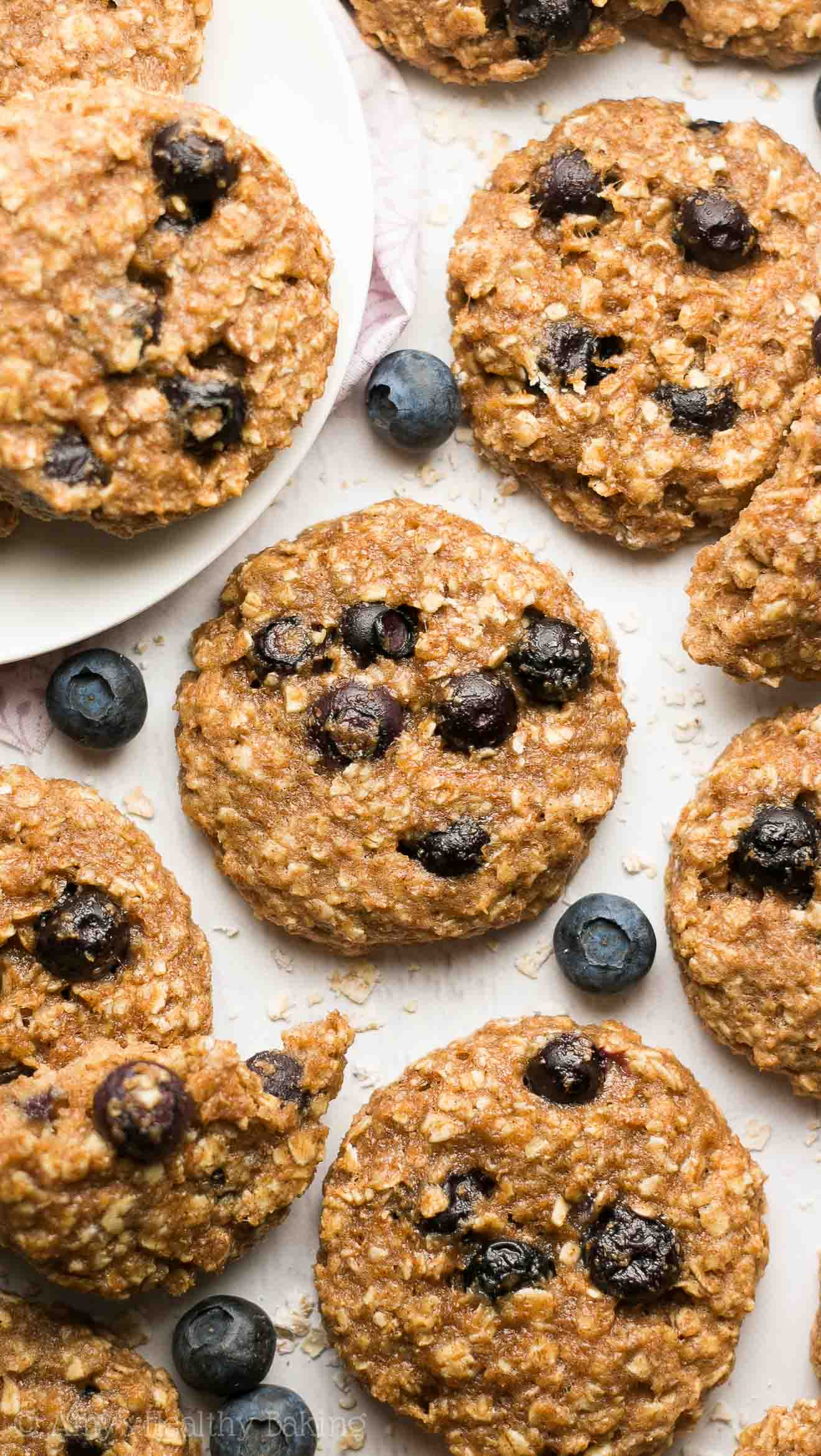 Blueberry Oatmeal Cookies  Healthy Blueberry Oatmeal Breakfast Cookies