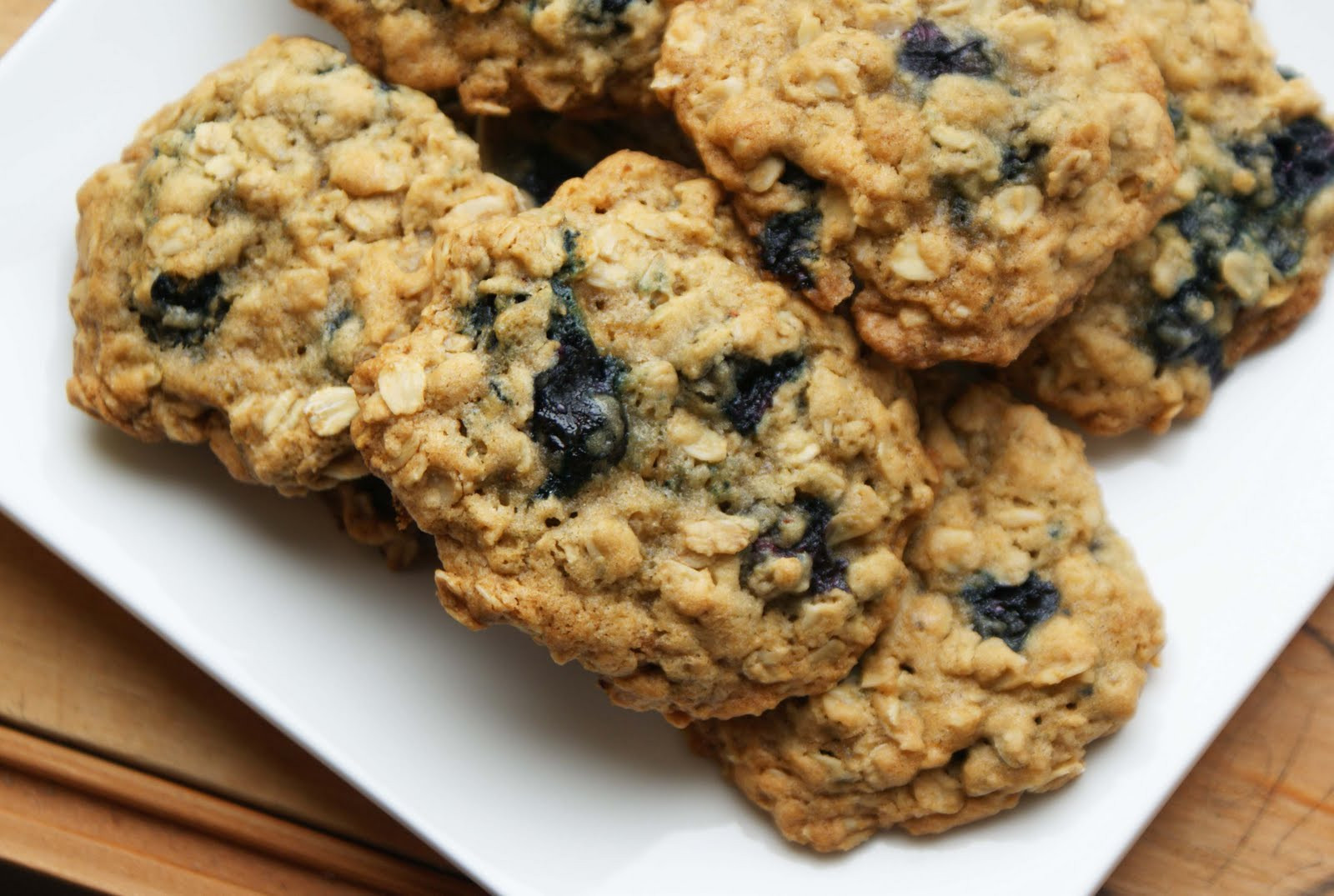 Blueberry Oatmeal Cookies  Chewy Blueberry Oatmeal Cookies Dinner With Julie Dinner